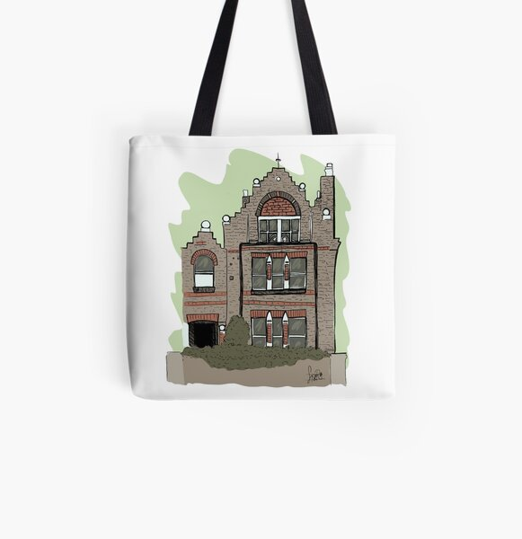 Spaced All Over Print Tote Bag
