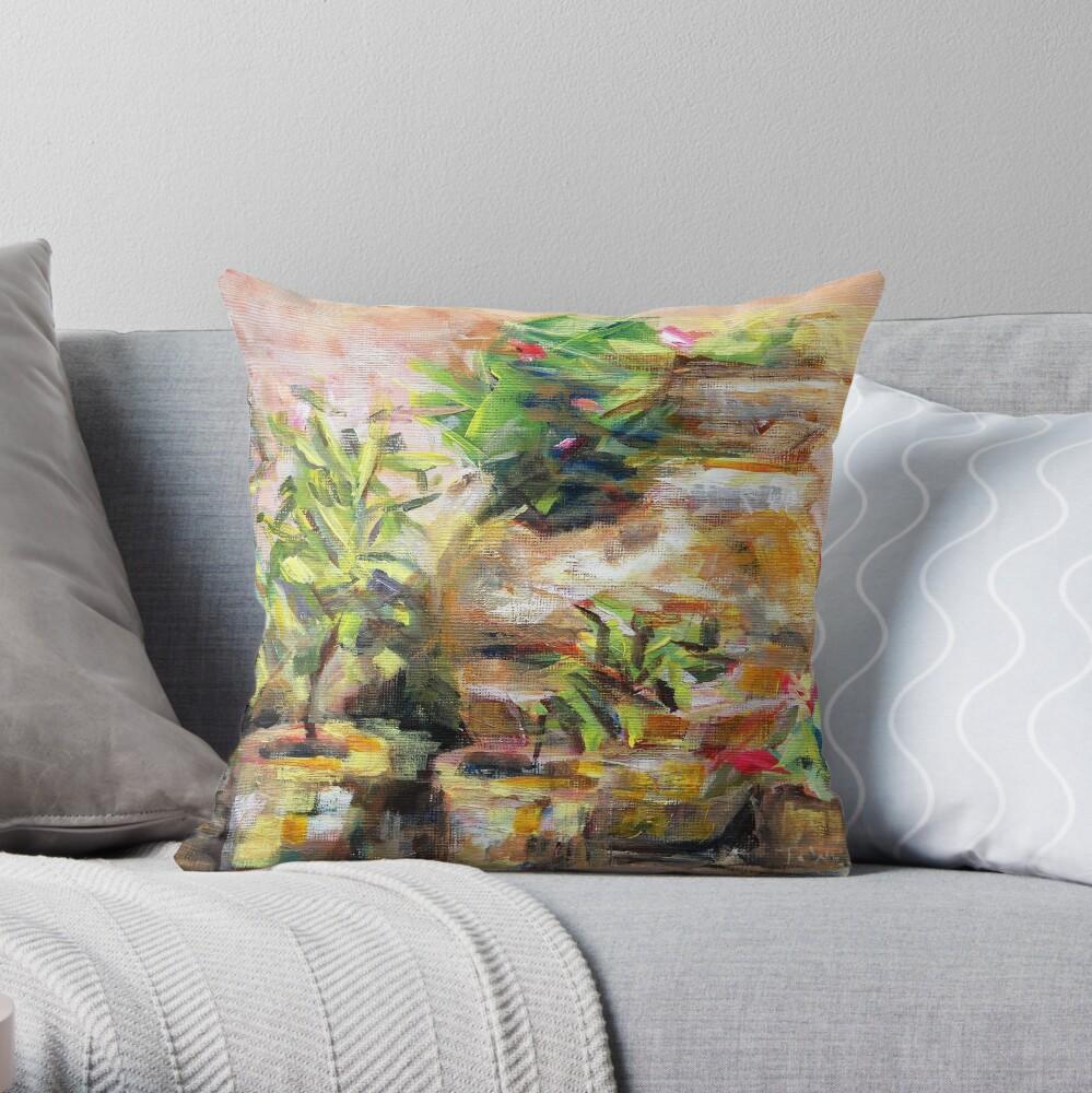 Garden Pots Throw Pillow