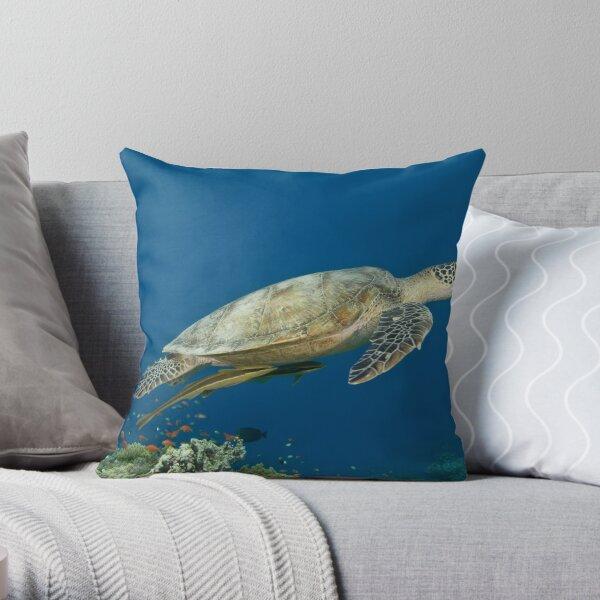 Chelonia Mydas Throw Pillow