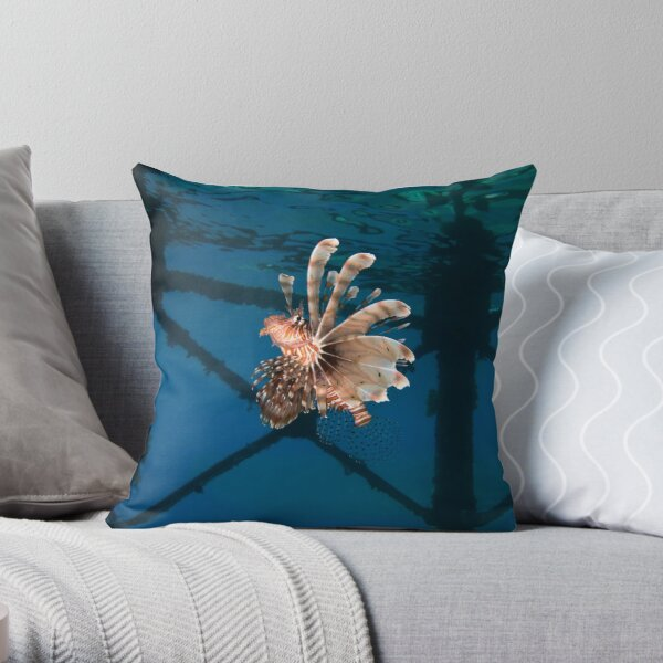 Flying Lion Throw Pillow