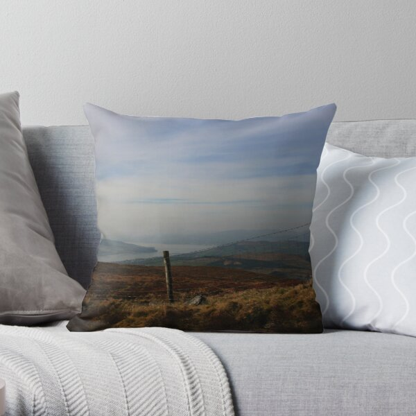 Inch Island From Scalp Mountain Throw Pillow