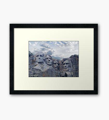 Four Presidents Framed Print