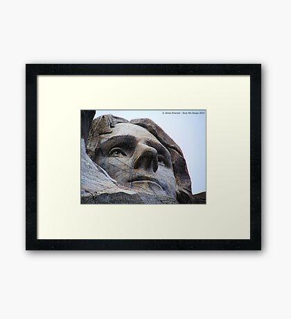 Jefferson on Rushmore Framed Print