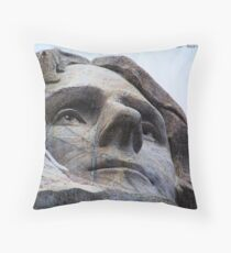 Jefferson on Rushmore Throw Pillow