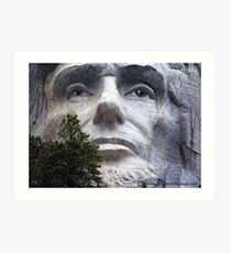 Lincoln on Rushmore Art Print