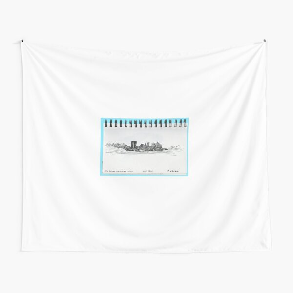 New York City skyline in November 2000 from the Staten Island Ferry.* Tapestry