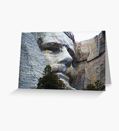 Roosevelt on Rushmore Greeting Card