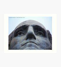 Washington on Rushmore Art Print