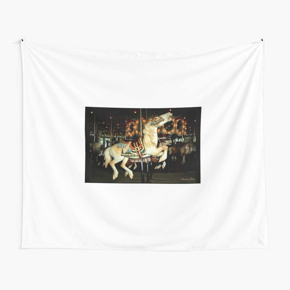 Beautiful Horse on the Carousel Wall Tapestry