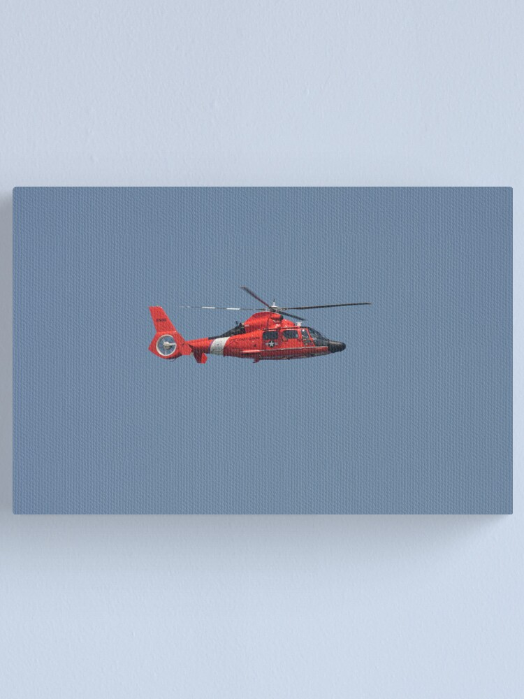 Alternate view of US Coast Guard Helicopter Canvas Print