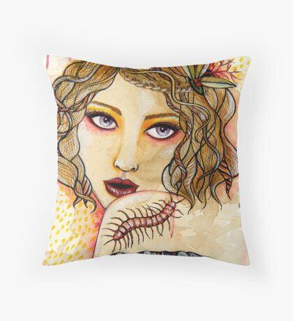Cecilia and the Centipede Throw Pillow