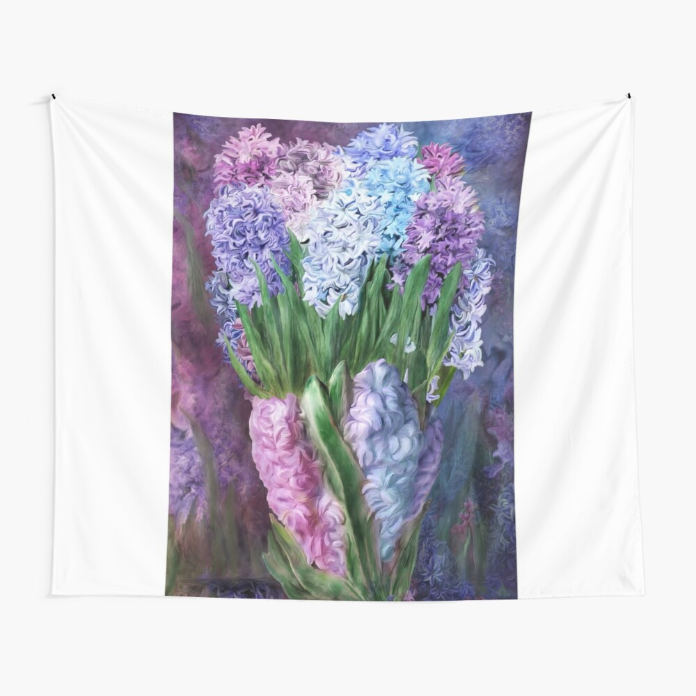 Hyacinths In Hyacinth Vase 1 Wall Tapestry
