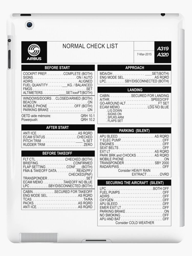 Airbus A320-Checkliste von LimaEchoAlpha