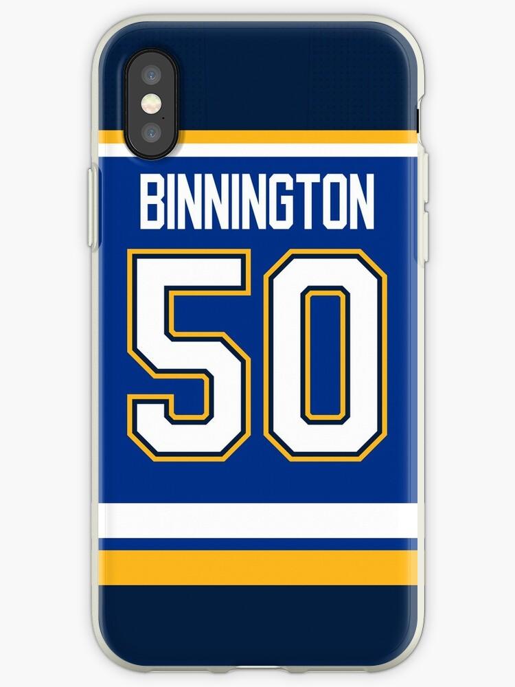 quality design e3e9f 49a30 'St. Louis Blues Jordan Binnington Home Jersey Back Phone Case' iPhone Case  by IAmAlexaJericho