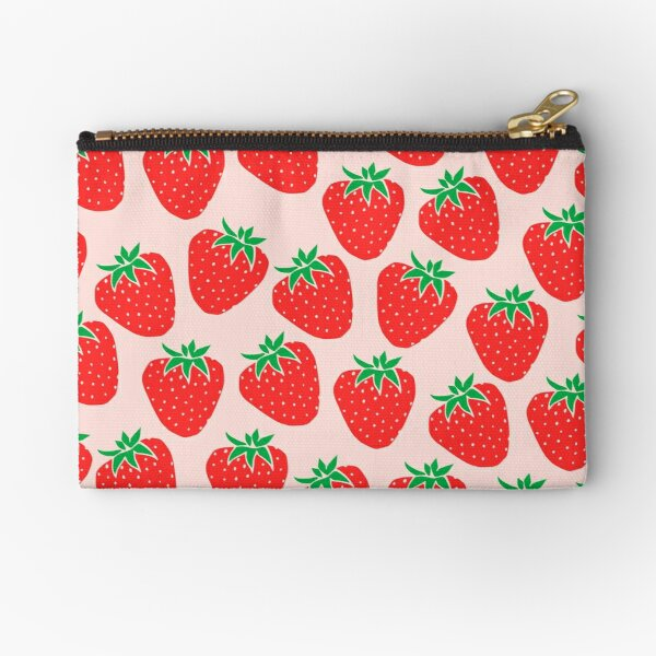 Cute Strawberry Zipper Pouch