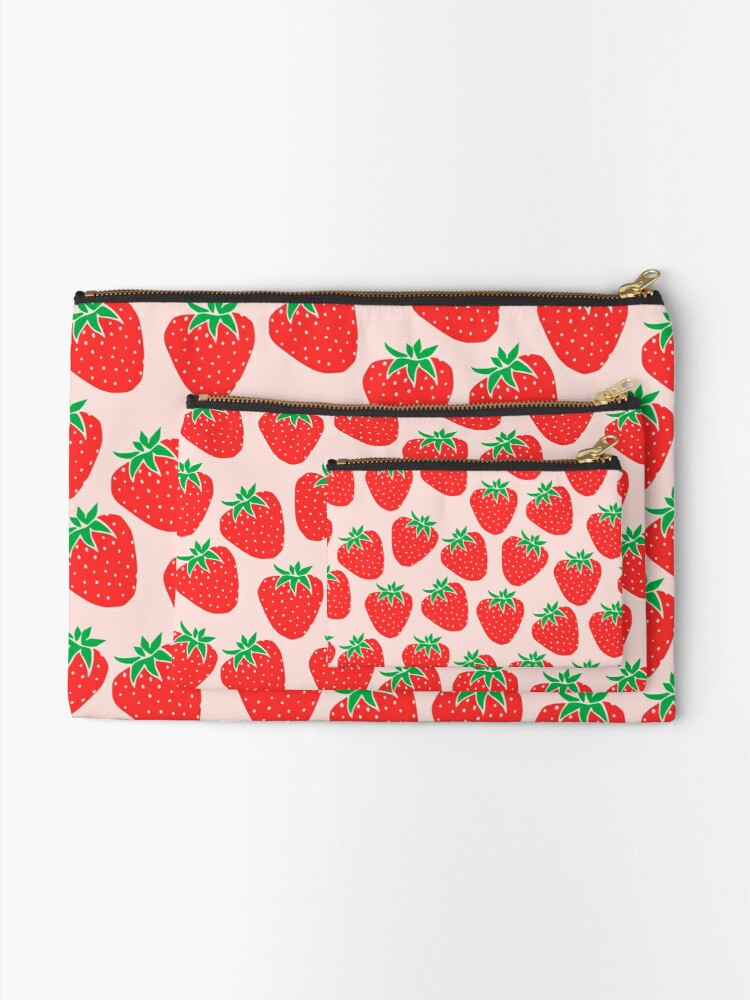 Alternate view of Cute Strawberry Zipper Pouch