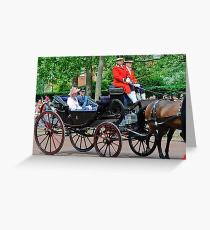 Prince William and Princess Alexandra: Trooping the Colour 2010 Greeting Card