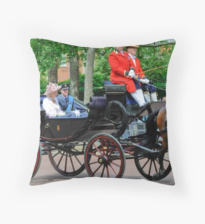 Prince William and Princess Alexandra: Trooping the Colour 2010 Throw Pillow