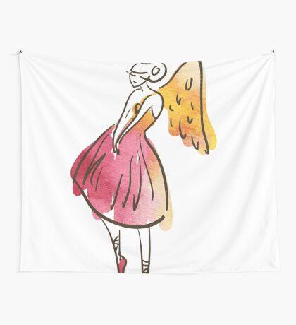 ballerina figure, watercolor Wandbehang