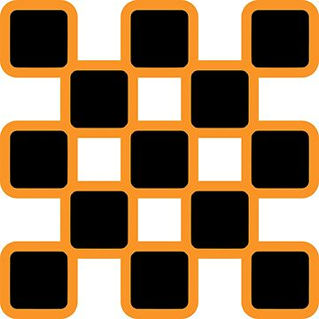 Geometric Pattern: Rounded Weave: Orange/Black by redwolfoz