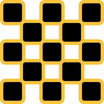 Geometric Pattern: Rounded Weave: Yellow/Black by redwolfoz