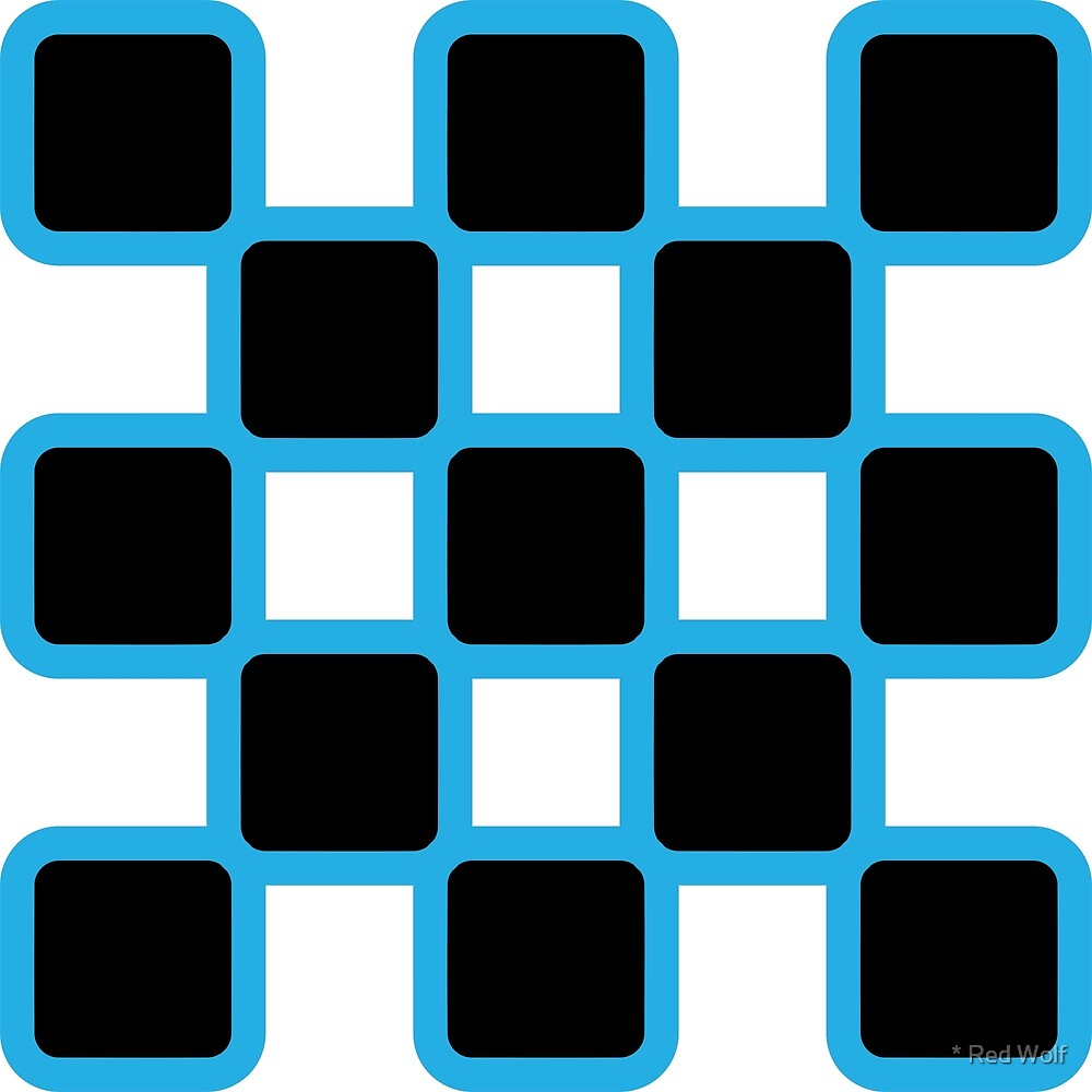 Geometric Pattern: Rounded Weave: Blue/Black by * Red Wolf