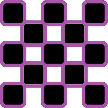 Geometric Pattern: Rounded Weave: Purple/Black by redwolfoz