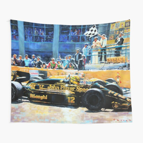 1986 Spanish GP F1 Senna vs Mansell  Tapestry