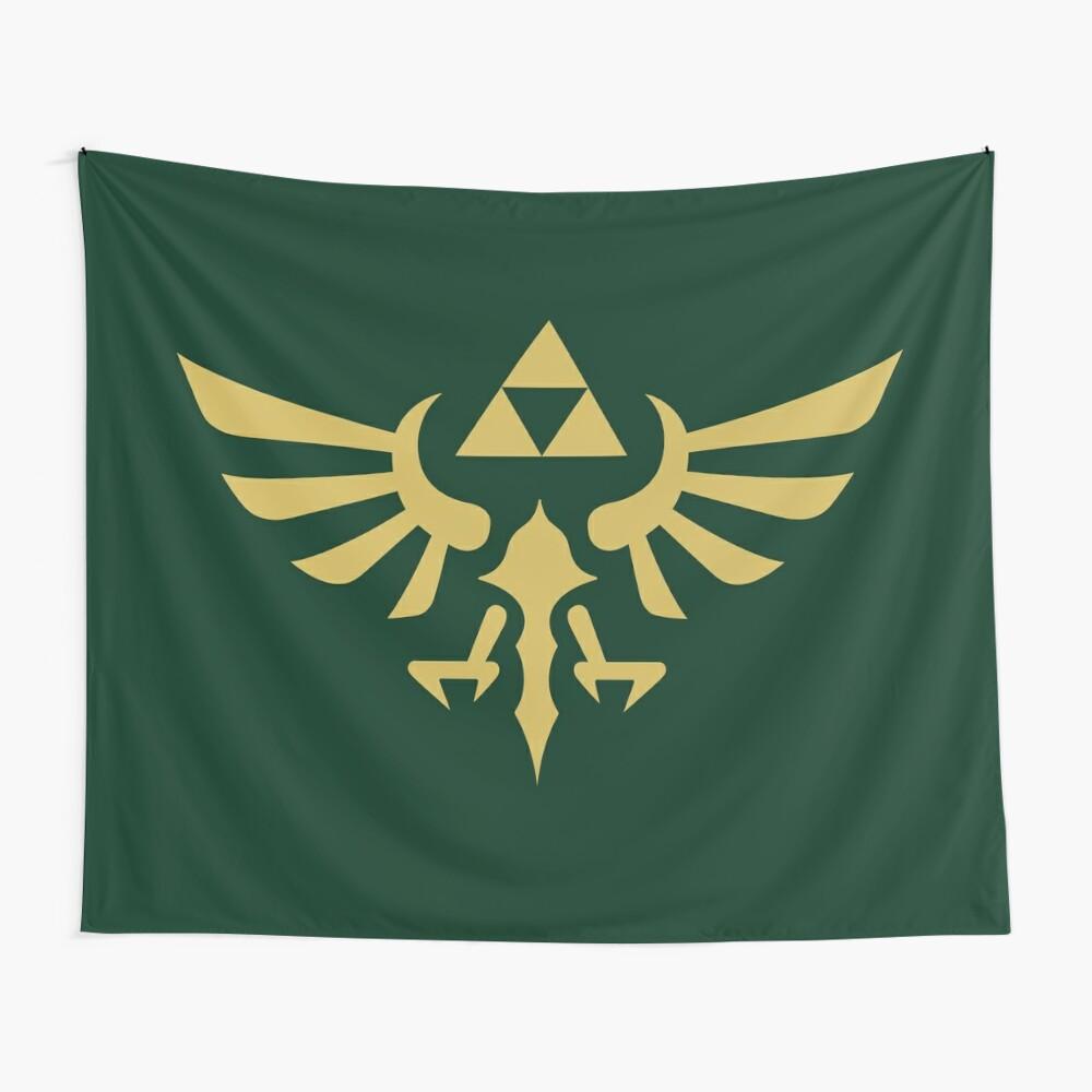 The Legend of Zelda Royal Crest (gold) Wall Tapestry