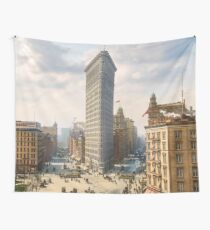 Flat Iron in New York City, ca 1903 colorized Wall Tapestry