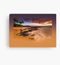 Pa'ako Beach Gold Rush Canvas Print
