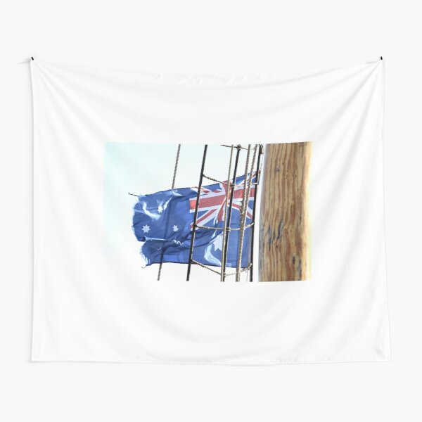 Flag on a Rope Tapestry