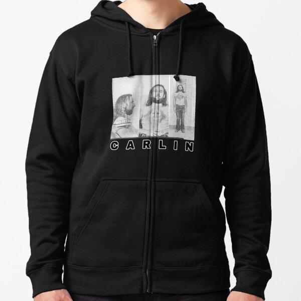 George Carlin arrest mugshot fan art  Zipped Hoodie