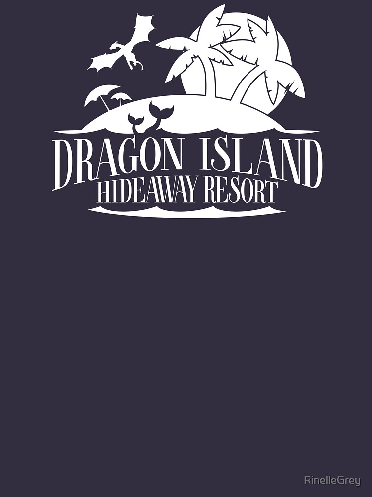 Dragon Island Hideaway Logo - Sunset Colours by RinelleGrey