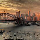 Painted Skies - Sydney Harbour, Sydney Australia(28 Exposure HDR Panoramic) - The HDR Experience by Philip Johnson