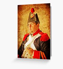 Military Portrait Greeting Card
