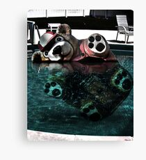 Bear Bobber Canvas Print