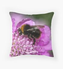 Early bumble bee Throw Pillow