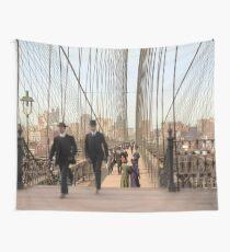 Brooklyn Bridge, New York, 1905 — Colorized Wall Tapestry