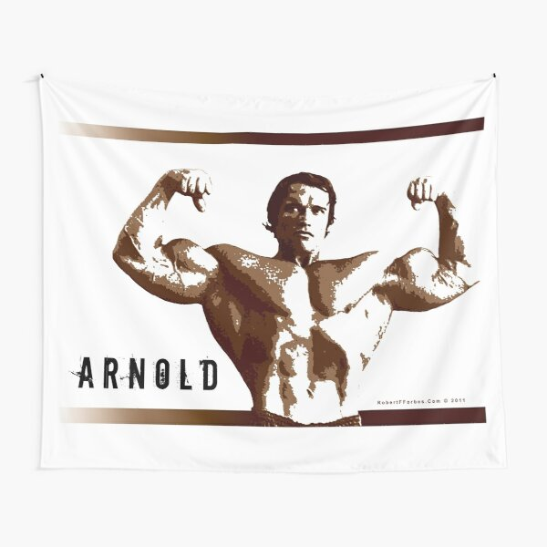 Arnold Schwarzenegger - Front Double Biceps Pose Tapestry