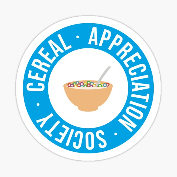 Cereal Appreciation Society Sticker