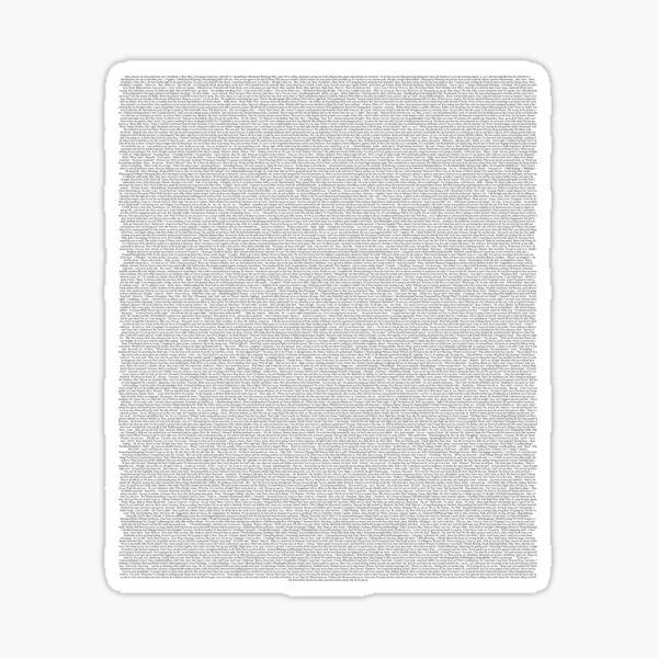 Titanic - Full script Sticker