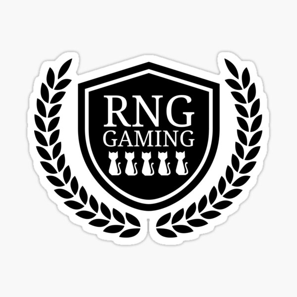 RNG Gaming Logo 2019 Black & White Sticker