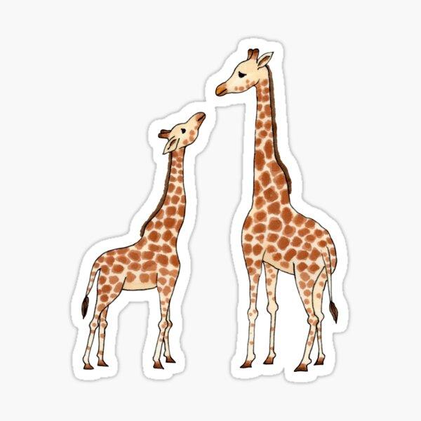 Giraffe mother and baby Sticker