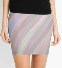 Pastelito  - Ombre Pastel Colors Abstract Art Mini Skirt