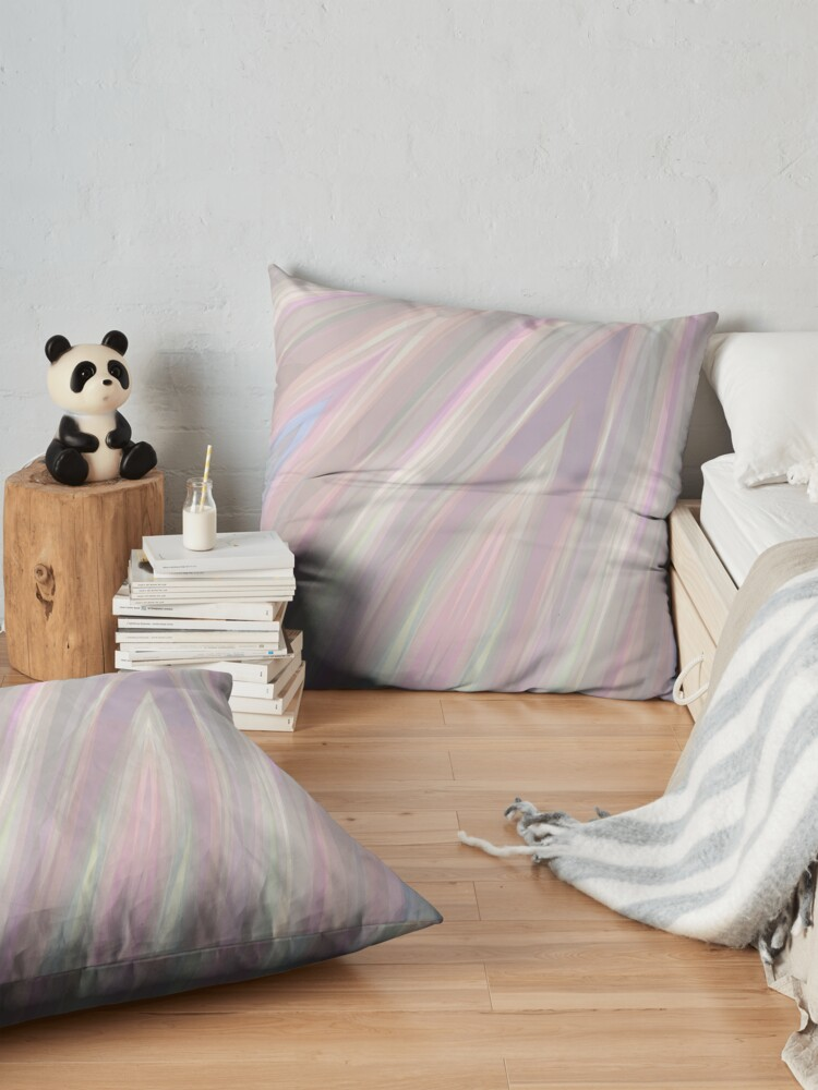 Alternate view of Pastelito  - Ombre Pastel Colors Abstract Art Floor Pillow