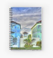 Ocean Front Houses on Eastern Road at Yamacraw Beach - Nassau, The Bahamas Spiral Notebook