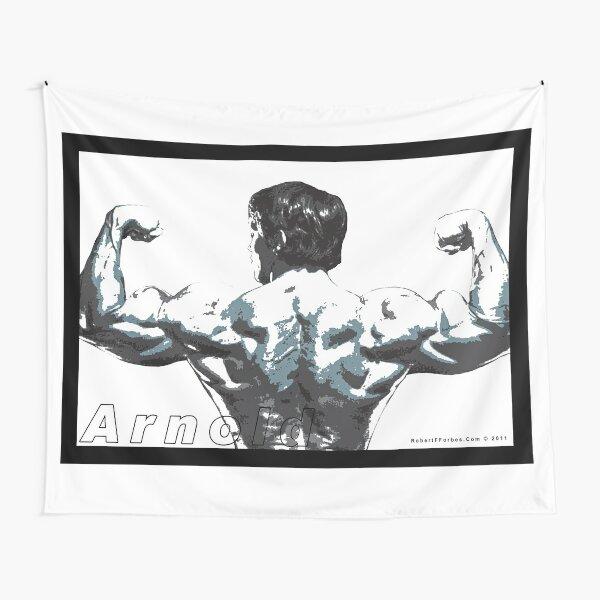 Arnold Schwarzenegger - Double Rear Biceps Tapestry