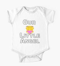 Our Little Angel Sitting on Cloud Blonde Girl One Piece - Short Sleeve