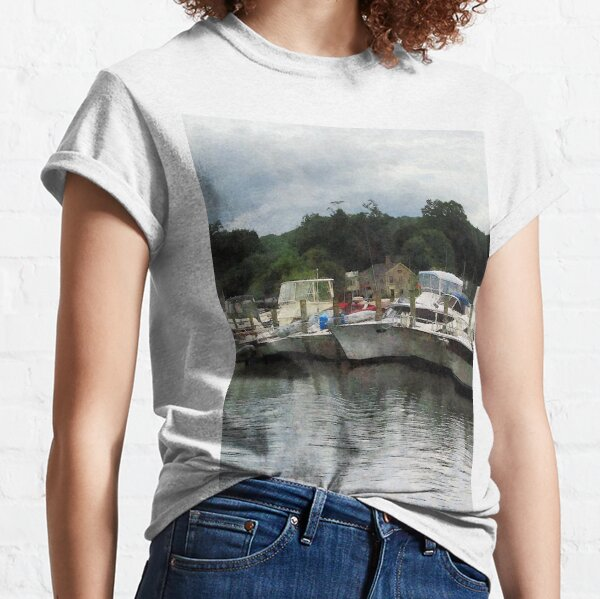 Essex CT - Boats On A Cloudy Day  Classic T-Shirt